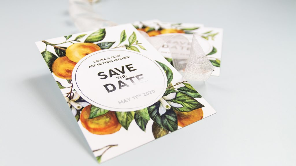 Foiled Save the Date Card