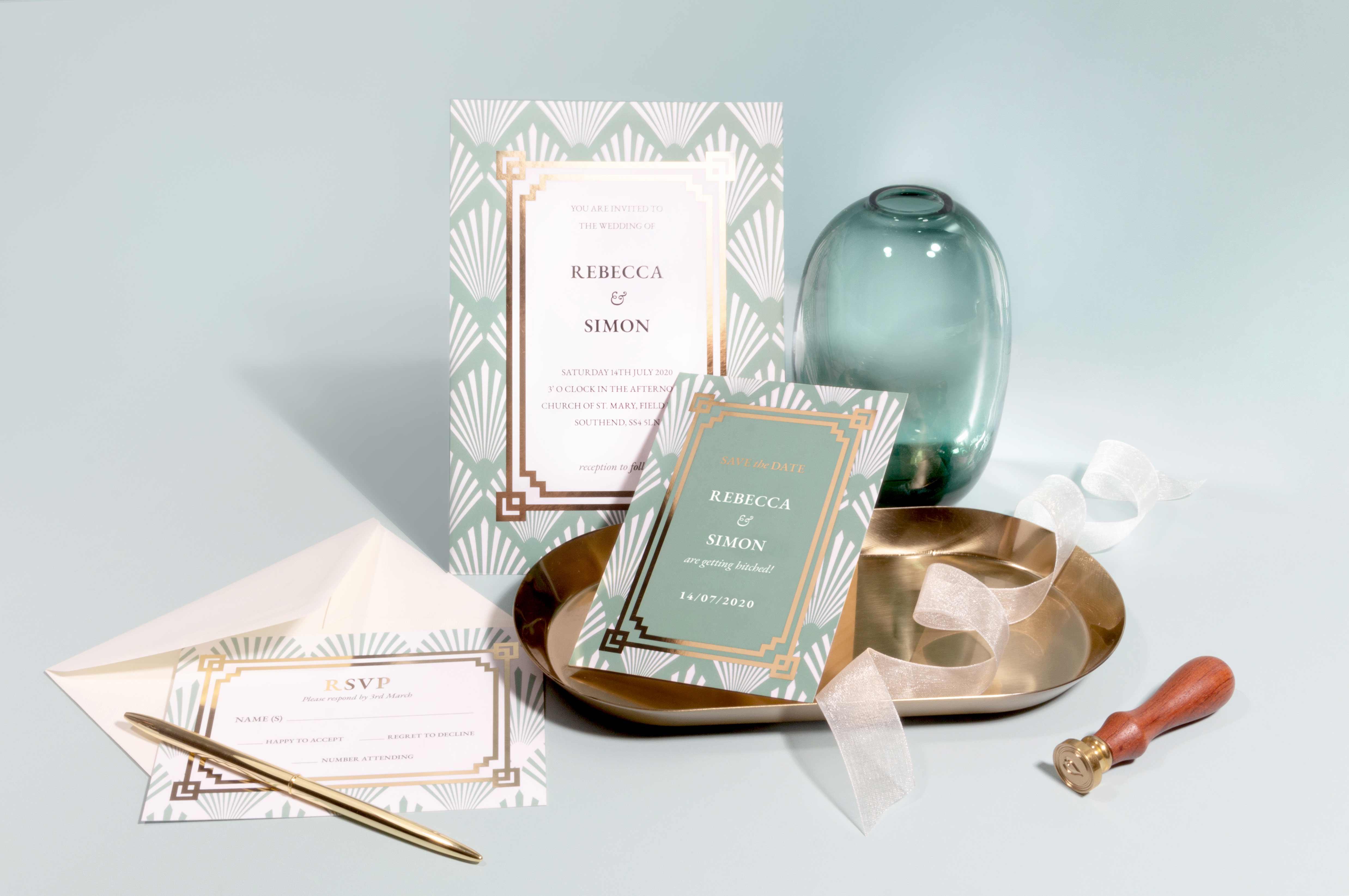 Art Deco Wedding Template