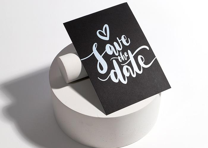 monochrome wedding design