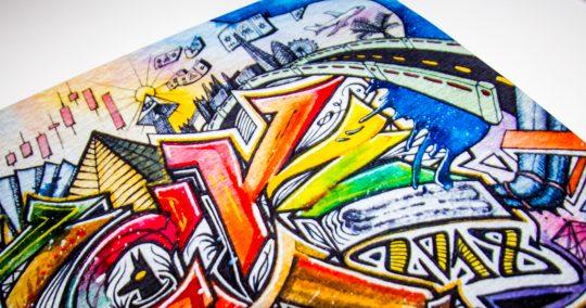 Marius A. Bogdanas - Blvck Lama Graffiti Poster