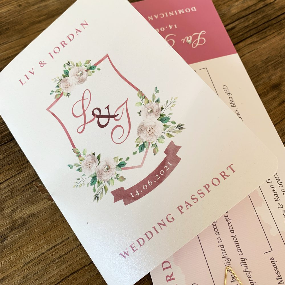 Wedding Passport Design