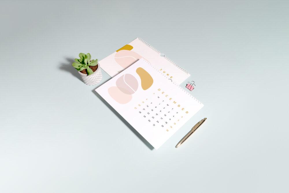 Christmas print calendars