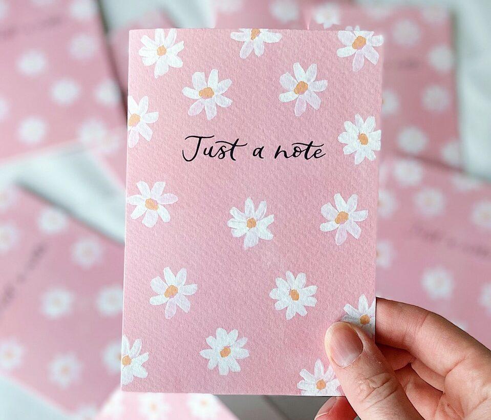 Pink card print