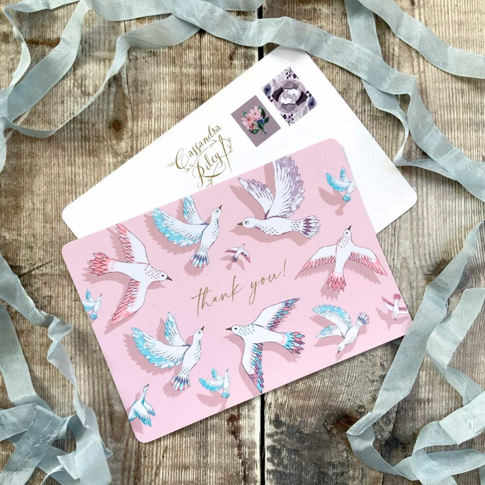 Pink Postcard design