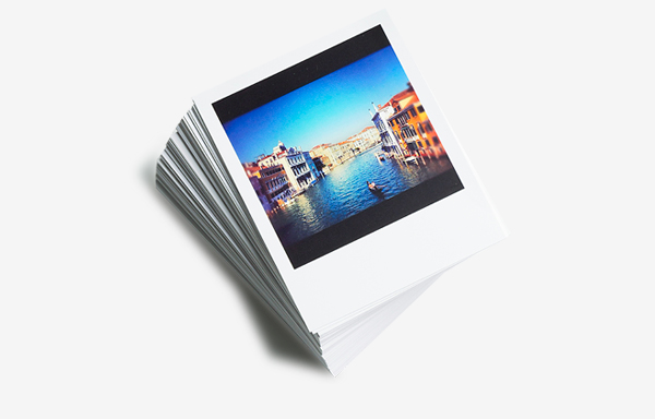 Stack of Instagram photo-style